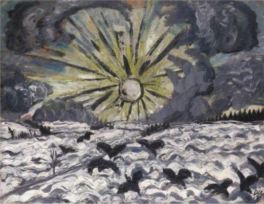 Image result for Otto Dix's Sunrise (1913, Städtische Galerie Dresden – Kunstsammlung, Museen der Stadt Dresden),